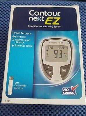 Contour Next EZ Blood Glucose Monitoring System Meter & Case Microlet Lancets
