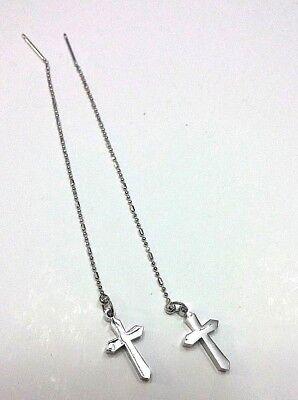 (Cross Style Dangle Threader earrings #3)
