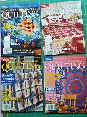 Lot of 4 Better Homes Gardens American Patchwork & Quilting Magazines 2002-2003