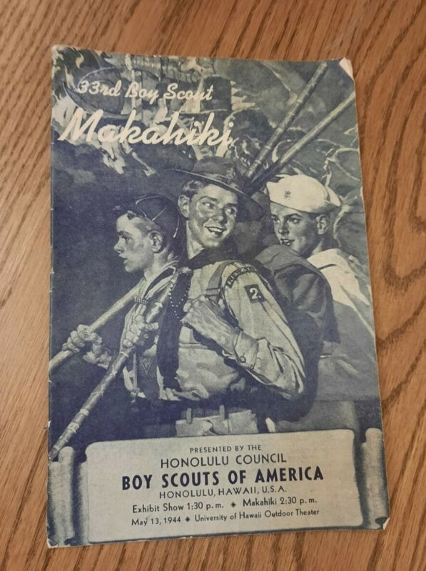 Vintage 1944 Honolulu Council Boy Scouts Of America Booklet Hawaii