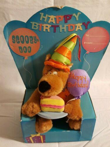 "Scooby Doo 11"" Happy Birthday Plush Warner Bros Studio Store 2000 New in Package"