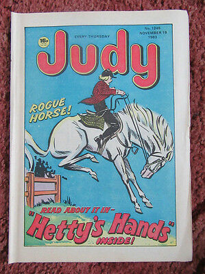JUDY COMIC 19 NOVEMBER 1983. N0.1245. UNSOLD NEWSAGENTS STOCK. UNREAD. VFN+