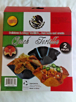 Metal Non Stick Quick Tostada & Taco Shell Baker  - Medium Size - 2 in each/pack