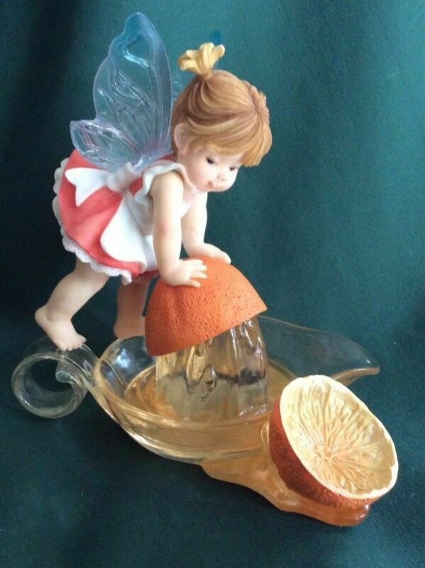 MY LITTLE KITCHEN FAIRIES - ORANGE SQUEEZE FAIRIE