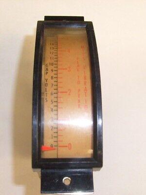 1977 No Name Mils Vibration Panel Meter Peak To Peak 0-5 - Used  E9
