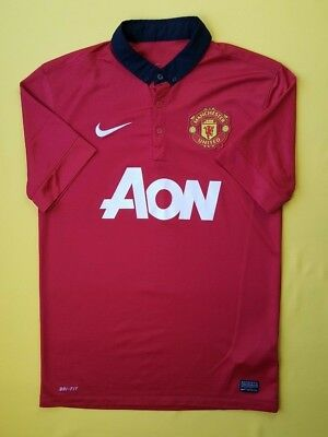 7cecbb9e 4.6/5 Manchester United jersey small 2013 2014 shirt 532837-624 Nike soccer  ig93