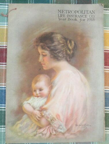 Vintage Metropolitan Life Insurance Co. Calendar Pamphlet Yearbook for 1918