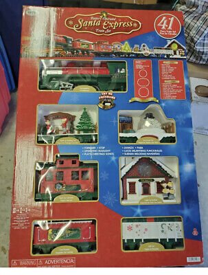 SANTA EXPRESS Train Set Christmas from EZTEC 41 Pieces AAL1