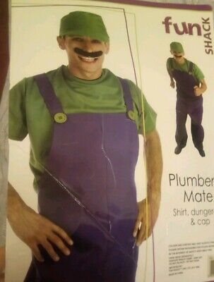Halloween plumbers mate Luigi Mario 80s men's medium