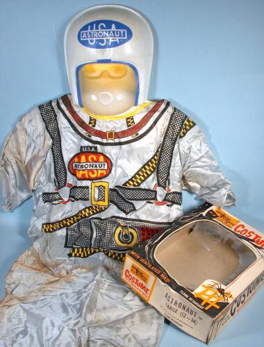 1950-60s NASA Astronaut Spaceman Halloween Masquerade Costume Spook Town w/box