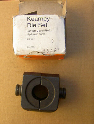 New Size 0 Kearney Hydraulic Power Head Die Set 0 Cat 36467 For Wh-2 Ph-2