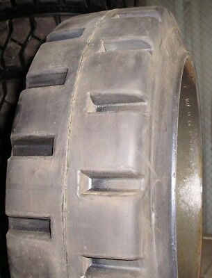 17x5x12-18 Tires Super Solid Forklift Press-on Blk Traction Tire Usa Made 17512
