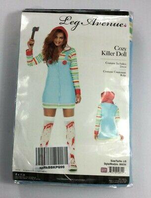 Leg Avenue Women's Cozy Killer Doll Halloween Costume NEW BJ