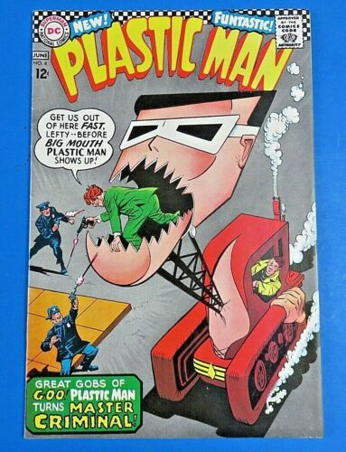 PLASTIC MAN #4 COMIC BOOK Rat patrol Back Cover ~ DC SILVER AGE 1967 ~ VF-
