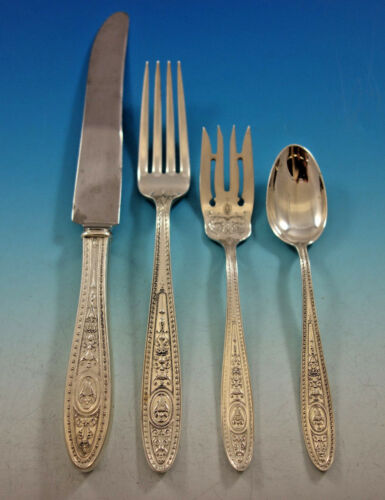 Wedgwood By International Sterling Silver Flatware Set 8 Service 32 Pcs Dinner