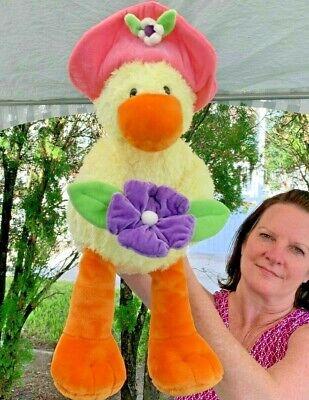 Vintage Gund Nursery Rhyme Yellow Duck With Flower 20