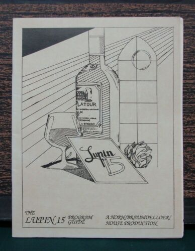 """Lupin The Third """"The Lupin 15 Program Guide"""" Book By Carl G. Horn 1986 RARE"""