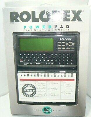 New Sealed Vtg Rolodex Desktop Organizer Electronic File 128k El2128 Power Pad