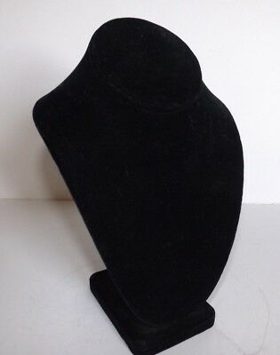 Black Velvet Neck Pendant Necklace Jewelry Display 10 Tall