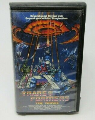 TRANSFORMERS THE MOVIE ANIMATED VHS VIDEO, 1999 CLAMSHELL HARD CASE, GUC