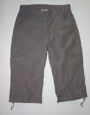 Woolrich Trail Hiking Pants Women 6 Cropped Quarry Brown Cargo T3 Womens Trail Cropped Pant