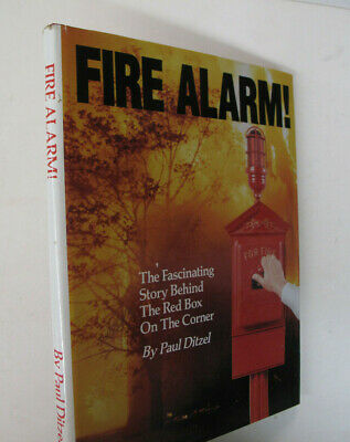 Fires Firefighting History Fire Alarm Red Box on the Corner Color Illus. -