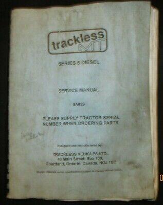 Trackless Mt Series 5 Diesel Tractor Service Repair Manual 5a629 Original Oem