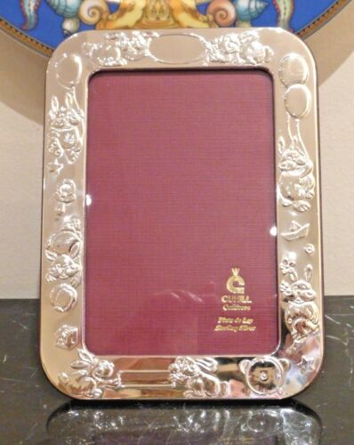 Cunill Sterling Silver 4X6 Bunnies Picture Frame