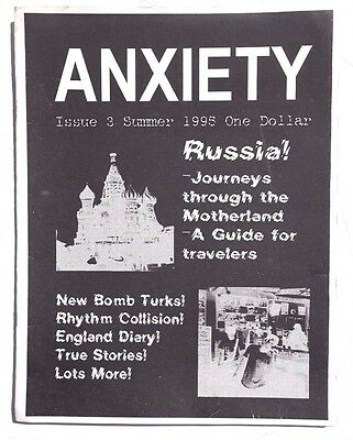 Vtg 1995 Anxiety Magazine Music World Business News England Diary Motherland