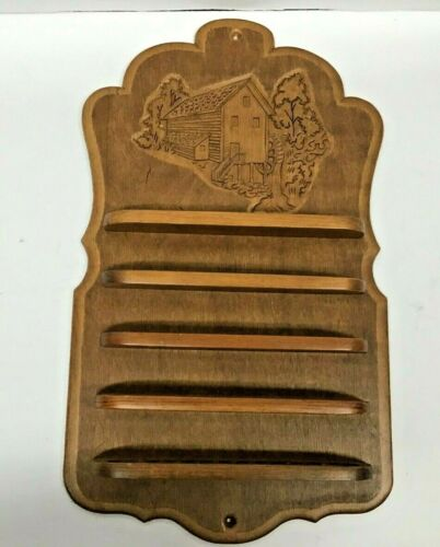 Handcrafted Vintage Wood Thimble Display Holder