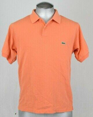 Lacoste Orange Polo Size 5 large men's Short Sleeve Shirt