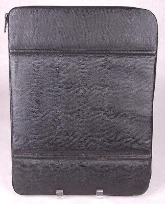 Vtg Faux Leather Binder-black-zipper-planner Binder Folder Office-15 X 11
