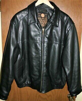 Marc New York Leather Jacket Men's Size XXL Black  Marc New York Black Jacket