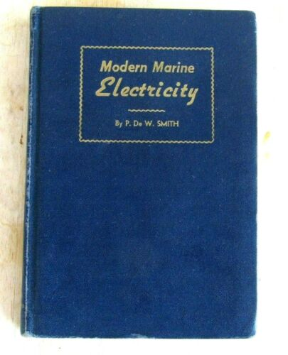 1942 MODERN MARINE ELECTRICITY CORNELL MARITIME PRESS SS COOLIDGE BLUE PRINT