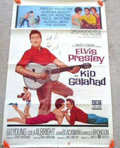 1962-ELVIS PRESLEY-KID GALAHAD-ORG-1SH MOVIE POSTER-62/348 -MUSIC ROCK N ROLL