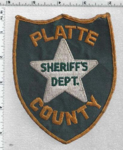 Platte County Sheriff (Nebraska) 1st Issue Shoulder Patch