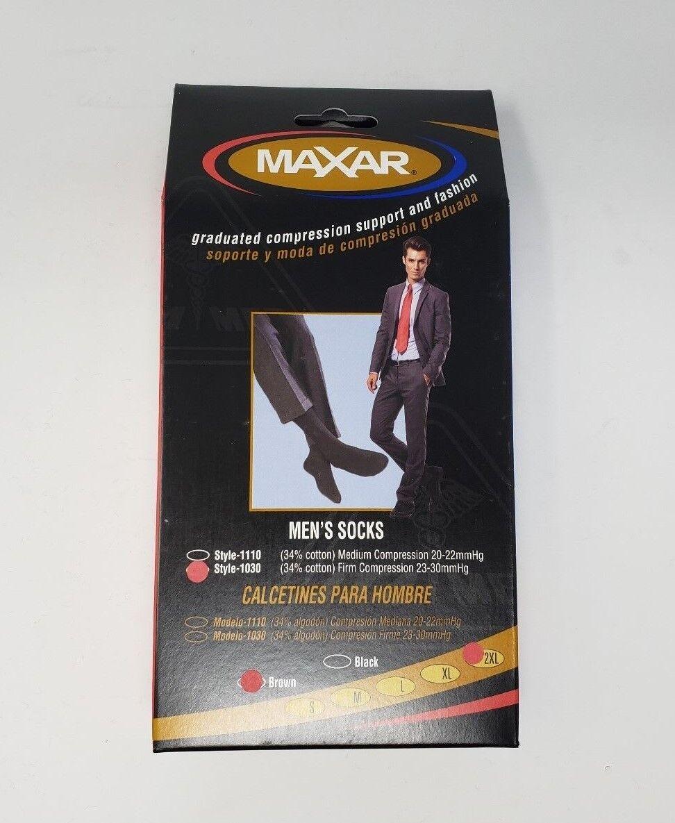 Maxar 1030 Brown Compression Support Socks Mens Size 2XL