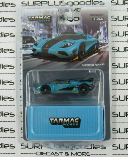 Tarmac Works 1:64 Scale 2020 Global64 Blue KOENIGSEGG AGERA RS T64G-005-RSR