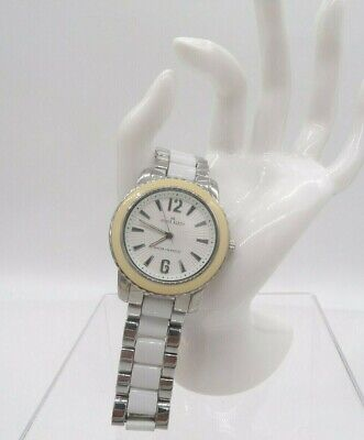 Anne Klein Women's 10/9331 White Dial Stainless Steel & Plastic Bracelet Watch