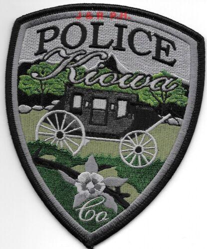 "Kiowa subdued, Colorado  (4"" x 5"" size)  shoulder police patch (fire)"