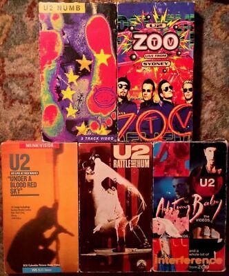 Usado, U2 Concerts & Music Videos VHS Lot Of 5 (Blood Red Sky, Rattle & Hum, Numb, +) comprar usado  Enviando para Brazil