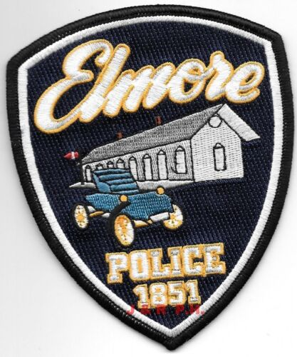 """Elmore - 1851, Ohio  (4"""" x 5"""" size) shoulder police patch (fire)"""