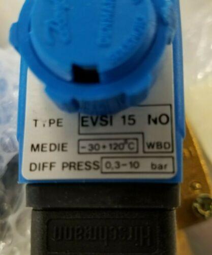 Lot of 2, New, Danfoss Solenoid Valve EVSI 15 NO