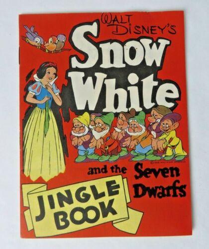 1938 Snow White Bread Promo Disney Snow White Seven Dwarfs Jingle Book #12215