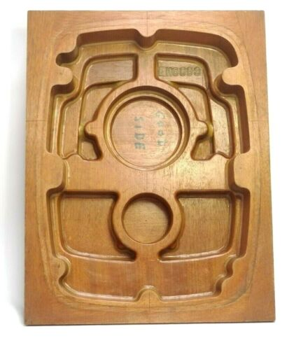 HUGE MORSE MAHOGANY WOOD FOUNDRY MOLD CASTING PATTERN INDUSTRIAL ART SCULPTURE