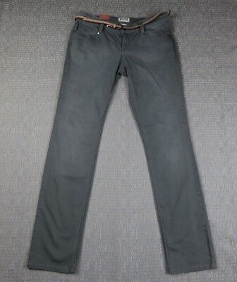 Belted Jeans Spandex (NWT MUDD SKINNY COTTON SPANDEX BLEND BELTED CASUAL JEAN PANTS SIZE 9 1AC17)