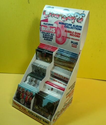 THE BEATLES. CHU-BOPS COMPLETE COUNTER DISPLAY.64 CARDS.SHIPPING CARTON + INSERT