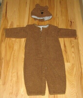 Vintage 2000 Baby Gap Brannan Brown Teddy Bear Halloween Costume 2 Pc Toddler 2T - Halloween Costumes Baby Gap