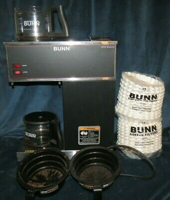Bunn 33200.0001 Pour Over Coffee Brewer 2 Glass Pots 1000 Filters Included
