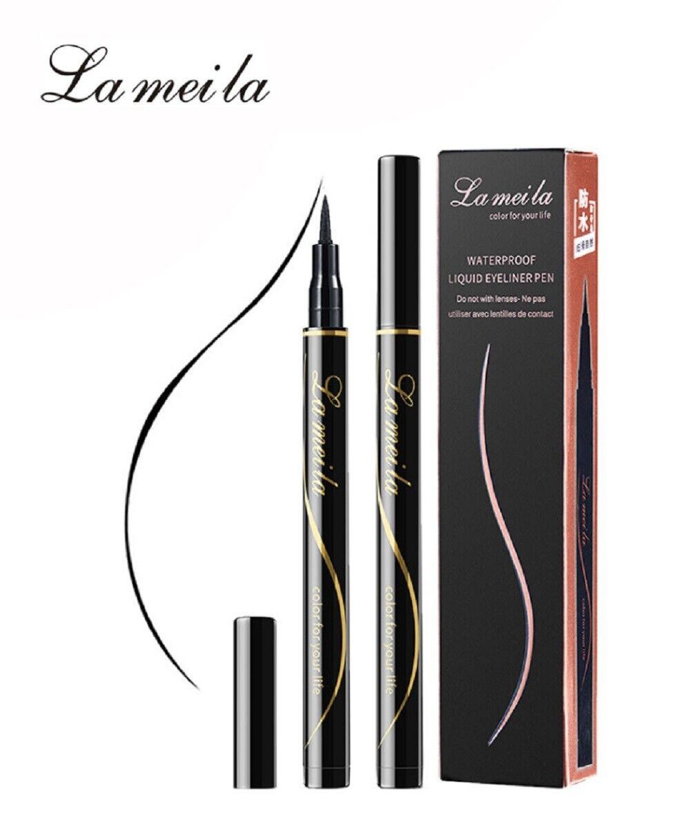 Beauty Black Waterproof Eyeliner Liquid Eye Liner Pen Pencil Makeup Cosmetic US Eyeliner